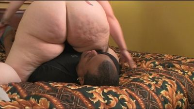 BBW Mistress G uses human cushion